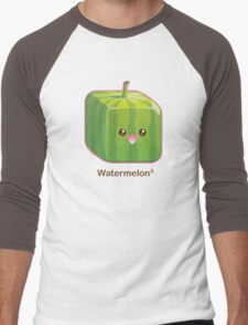 Cute Square Watermelon Men's Baseball ¾ T-Shirt