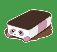 Cute Panda Bar Ice Cream - Strawberry One Piece - Short Sleeve