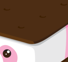 Cute Panda Bar Ice Cream - Strawberry Sticker