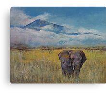 Elephant Savanna Canvas Print