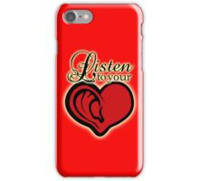 LIsten to your heart (2 version) iPhone Case/Skin