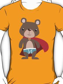 Cute Superhero Bear T-Shirt