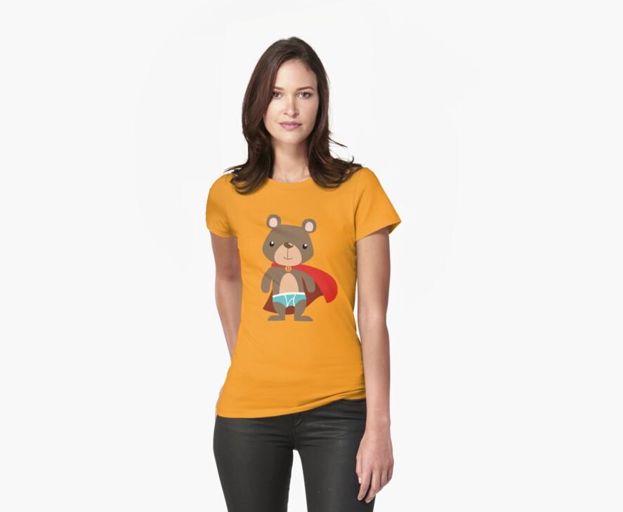 Cute Superhero Bear by Veronica Guzzardi