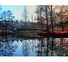 A bridge, the river and reflections | waterscape photography Photographic Print
