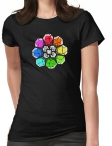 Cracked Rainbow Badge Womens Fitted T-Shirt