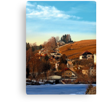 Road upon the river | landscape photography Canvas Print