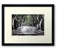 on the road with a 356 Framed Print