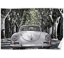 on the road with a 356 Poster