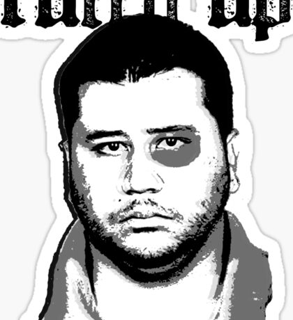 George Zimmerman - Roughed Up (1) Sticker
