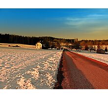 Country road through winter wonderland | landscape photography Photographic Print