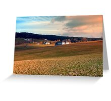 Meadows and farms in rural scenery   landscape photography Greeting Card