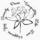 Serenity Tranquility Lotus (Black) by Makanahele