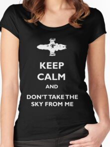 Keep Calm Firefly - Serenity Women's Fitted Scoop T-Shirt