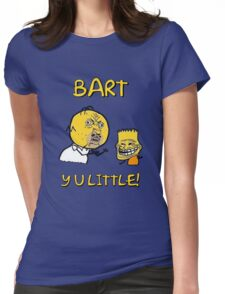 Y U Little Homer + Bart Simpson Mashup Meme Womens Fitted T-Shirt