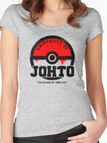 Pokemon - University of Johto (Grunge) Women's Fitted Scoop T-Shirt