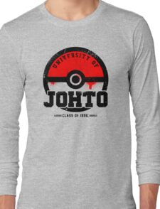 Pokemon - University of Johto (Grunge) Long Sleeve T-Shirt