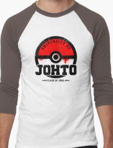 Pokemon - University of Johto (Grunge) Men's Baseball ¾ T-Shirt