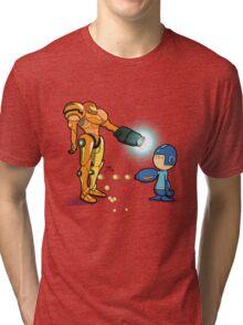Samus Vs Mega Tri-blend T-Shirt