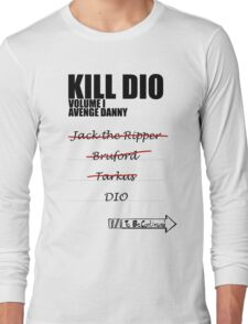 KILL DIO (Black) Long Sleeve T-Shirt