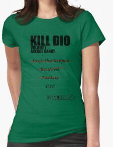 KILL DIO (Black) Womens Fitted T-Shirt