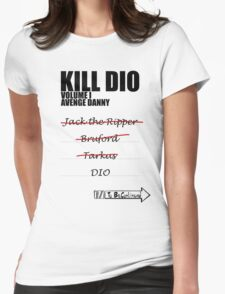 KILL DIO (Black) Womens Fitted T-Shirt