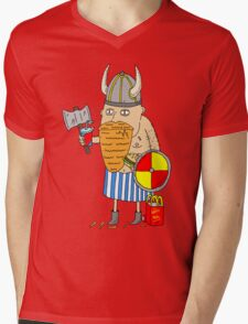 Fast Food Viking Mens V-Neck T-Shirt