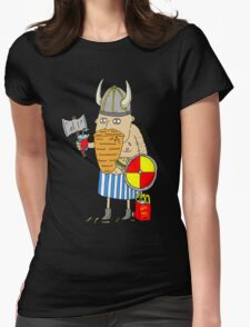 Fast Food Viking Womens Fitted T-Shirt