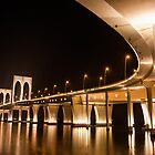 Bridge at night by shirleyglei