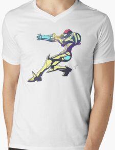 Samus Aran Color V2 Mens V-Neck T-Shirt