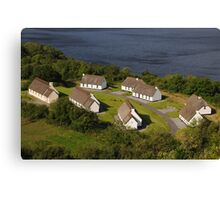 Irish Thatched Cottages - County Clare Ireland Canvas Print