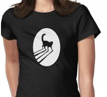 Keyhole Cat Womens Fitted T-Shirt