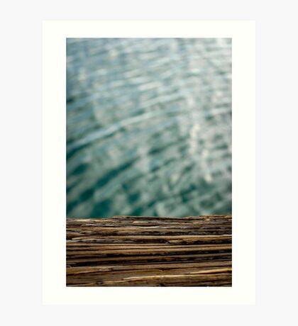 Harbor Wood Art Print