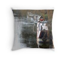 Winter on the Water Throw Pillow
