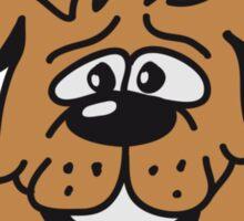 playful dog Sticker
