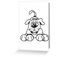 playful dog Greeting Card