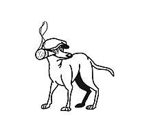 crook dog Photographic Print