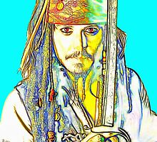 Johnny Depp in Pirates of the Caribbean by Art Cinema Gallery