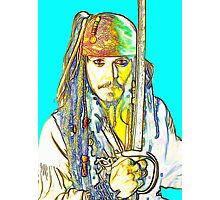 Johnny Depp in Pirates of the Caribbean Photographic Print