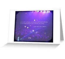 MAROON MUSIC - She Will Be Loved Greeting Card