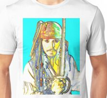 Johnny Depp in Pirates of the Caribbean Unisex T-Shirt