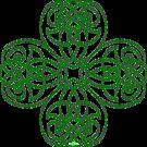 Irish Shamrock - line Art for St-Patrick's Day by Anne Guimond
