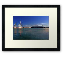 Queen Mary 2 - Fremantle Western Australia  Framed Print