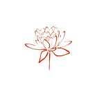 Lotus Flower Calligraphy Print (Orange) by Makanahele