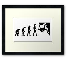 Evolution Climbing Framed Print