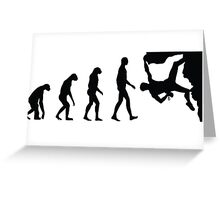 Evolution Climbing Greeting Card