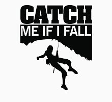 Catch me if I fall Womens Fitted T-Shirt