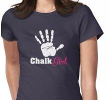 Climbing: Chalk Girl Womens Fitted T-Shirt