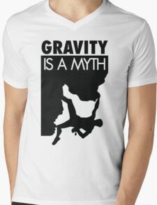 Gravity is a myth Mens V-Neck T-Shirt