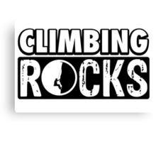 Climbing Rocks Canvas Print