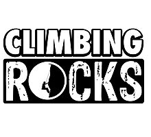 Climbing Rocks Photographic Print